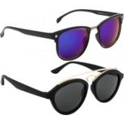 NuVew Clubmaster, Aviator Sunglasses(Blue, Grey, Green)