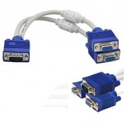 VGA Y Splitter Cable - 15 Pin Male to Dual Female VGA Cable 2 Monitor