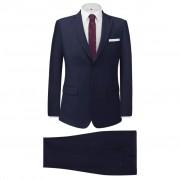 vidaXL Fato formal homem 2 pcs tamanho 56 azul-marinho
