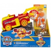 Paw Patrol Marshall Set 2 in 1 Vehicul Flip And Fly si figurina