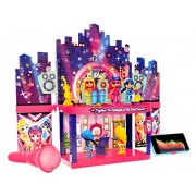 Toyshine 2 in 1 Party Doll House Toy, 3 Dolls