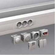 Optiline 45 - canal de cabluri instalare - 95x55 mm - pvc - alb - 2000 mm - Sisteme de canale optiline 45 - 95x55 mm - Optiline 45 - ISM10200 - Schneider Electric
