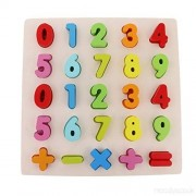 FunBlast Wooden Alphabet and Number Puzzles Toys for Children, Montessori Digital Board Educational Learning Letters Puzzle Toy (Number)