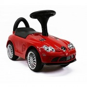 Licensed Mercedes-Benz SLR 722S Push Ride On Cars for Toddlers With Music&Horn Sounds, Red