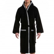 Modus Vivendi Iconic Bath Towel Robe Loungewear Black 10751