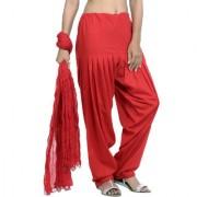 Jaipurkurti Pure Cotton Red Patiala Salwar and Dupatta Set