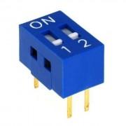 Life Dip Switch 2 Poli Per Circuiti Stampati Passo 2,54 Mm Tcs