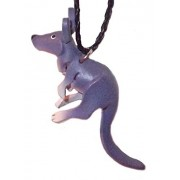 Car Accessories - Leather Purple Kangaroo - Hanging Necklace Charm For Automobile