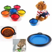 Pet Collapsible Foldable Travel Bowl Lightweight Dog Compact Feeding Dish Silicone