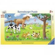 Детски пъзел - Животни - Дисни, 15 елемента, Ravensburger, 706103