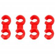 4 PCS En Forma De S Bike Cable Organizar Hebillas (rojo)