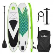 Klarfit Spreestar 320 Tabla de paddle surf hinchable SUP-Board-Set 320x12x81 verde (FITN2-Spreestar 320)