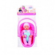 Set bebelus cu scoica roz Baby Born