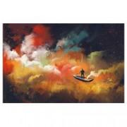 Tablou Canvas Nori Colorati 50 x 75 cm rama de lemn ascunsa margini printate