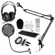 CM001S Set Microfono V4 Cuffie Condensatore Adattatore USB Braccio Anti-Pop