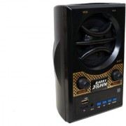 Barry John MINIKIN with AUX USB Bluetooth FM MMC 10W Bluetooth Home Audio Speaker (Black Stereo Channel)