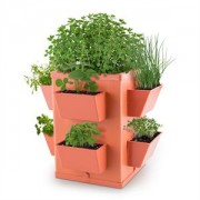 Waldbeck Herbie Hero ghiveci pentru plante de gradina 8 PP-perete foaie teracotă (GT6-Herbie-Hero)