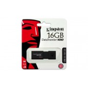 Pendrive, 16GB, USB 3.0, KINGSTON DT100 G3, fekete (UK16GDT13)