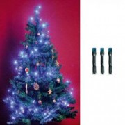 Ghirlanda 100 LED-uri lumina statica lungime 9.5 metri interior alimentare retea albastru