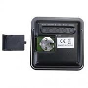 ELECTROPRIME® Black Plastic Thermometer Hygrometer Clock Weather Station Desk Alarm