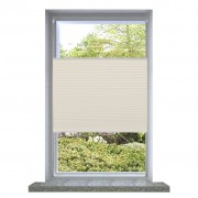 vidaXL Plisse Blind 40x125cm Cream