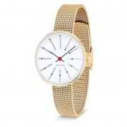 Arne Jacobsen Clocks Armbandsur Bankers Vit/guld/matt guld 30 mm Arne Jacobsen Clocks