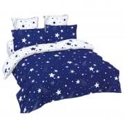 Lenjerie de pat dubla To The Stars, 245 x 250 cm, 4 x fete perna, 6 piese, model stele