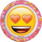 Unique Día de San Valentín Emoji, Platos de cena, Multi Color, Una talla