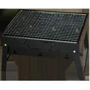 Gratar portabil carbune RAKI 28 5x28 5cm cadou set furculita gratar si cutit 20cm SIMONAGGIO CHURRASCO