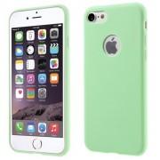 GadgetBay Étui en silicone de couleur verte unie iPhone 7 8 Housse verte Étui vert