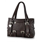 Butterflies Women's Handbag (Brown) (BNS 0356 BN)