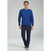 BlackSpade Хлопковый мужской лонгстив насыщенного синего цвета BlackSpade b7549 Blue