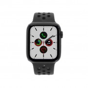 Apple Watch Series 5 Nike+ Aluminiumgehäuse grau 44mm mit Sportarmband schwarz (GPS + Cellular) grau