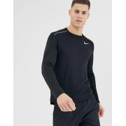 Nike Running miler long sleeve top in black