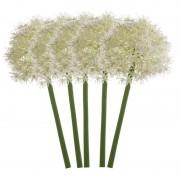 Merkloos 4x Witte allium/sierui kunstbloemen 65 cm