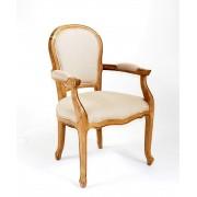 Jean-Paul Armchair - Natural Linen - American Oak Timber