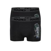 Fitness Kapo bamboo boxerky - dvojbal L tmavě šedá
