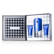 Blue Label Coffret: Eau De Toilette Spray 100ml/3.3oz + Shower Gel 50ml/1.7oz + After Shave Balm 50ml/1.7oz 3pcs Blue Label Комплект: Тоалетна Вода Спрей 100мл + Душ Гел 50мл + Балсам след Бръснене 50мл