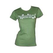 Everyone Loves A Drunk Girl Juniors Mint Green Graphic T-Shirt