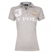 Hvpolo HV Polo Favouritas EQ SS - Silver Grey - Size: Large