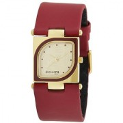 Sonata Yuva Analog Gold Dial Womens Watch - ND8919YL04A