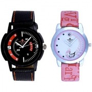 Special 3D Look And Pink Peacock Couple Casual SCK Analogue Watch By Google Hub