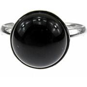 Inel argint reglabil cu onix natural 10 MM GlamBazaar Reglabila cu Onix Negru tip inel reglabil de argint 925 cu pietre naturale