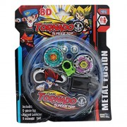NSinc 4 Beyblade Set with Ripchord Launcher and Assembly Tool, Stadium Included, Clash Tornado Speed top, 8D Design-Version 2018