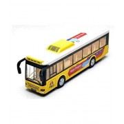 Sajani Kid's Metal Die-Cast Luxury Pull Back Double Decker London Bus with Light and Music, 3 Years(Multi Colour- Colour May Vary)