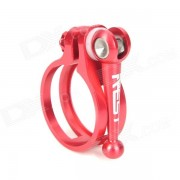 AEST YSCL-08 de 34?9 mm de aleacion de aluminio de bicicletas Tija Clamp - Red