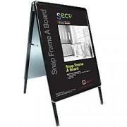 Stewart Superior Pavement Sign Snapframe A-Board A1 Black 637 x 800 x 1,150 mm