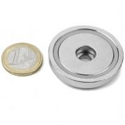 Magnet neodim oala cu gaura cilindrica, 42 mm, putere 32 kg