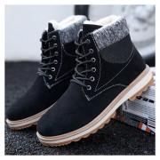 Botas de algodón Martin para hombre-negro