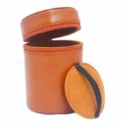 Ismartdigi cuero PU bolsa de la camara caso de la lente para todas las lente DSLR - Brown